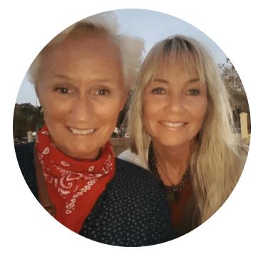 Eva Pedersen og Beathe Knudsen