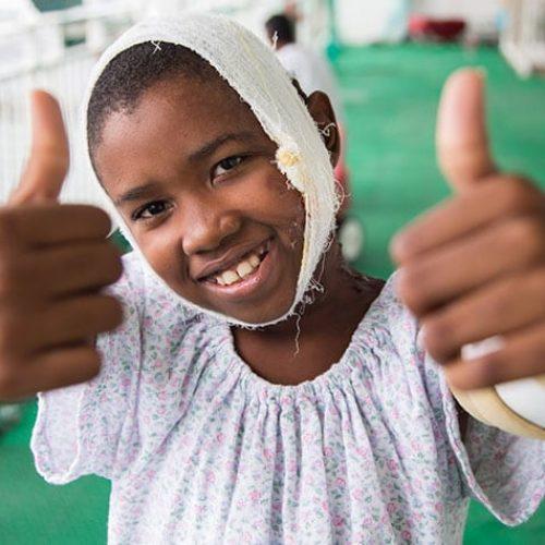 Bandages happy kid child